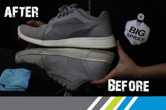 BIG EASY SHOE CLEANER สเปรย์โฟมทำความสะอาดรองเท้า 3