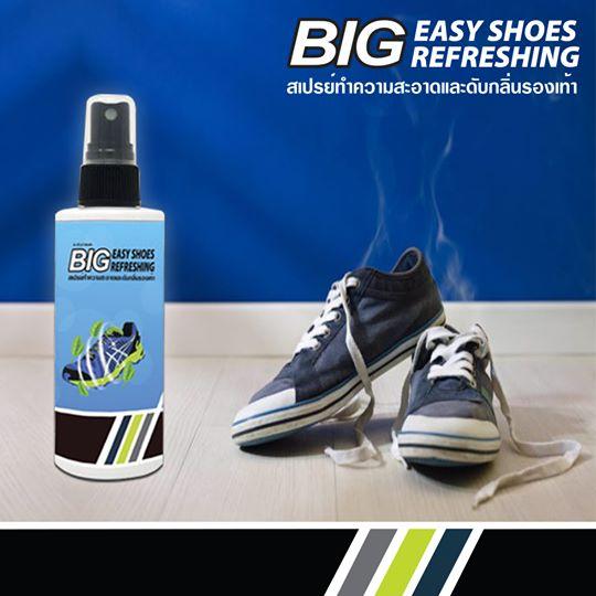 BIG EASY SHOES REFRESHING สเปรย์ทำความสะอาดและดับกลิ่นภายในรองเท้า 1